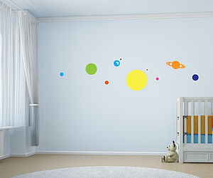 Children's Solar System Wall Stickers