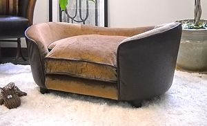 Luxury Elevated Tan Medium Dog Bed - dogs