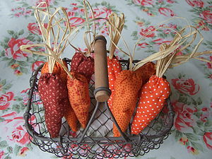 Baby Fabric Carrots