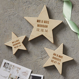 Personalised Wedding Keepsake Wooden Star - home accessories