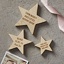 Personalised Baby Keepsake Wooden Star