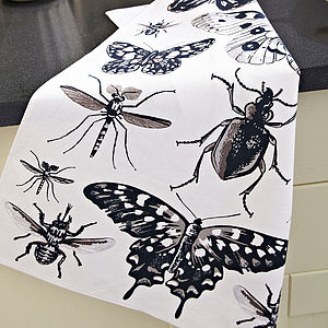 Butterfly Collection Cotton Tea Towel - kitchen accessories