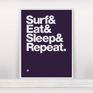 'Surf And Eat' Screen Print Edition2