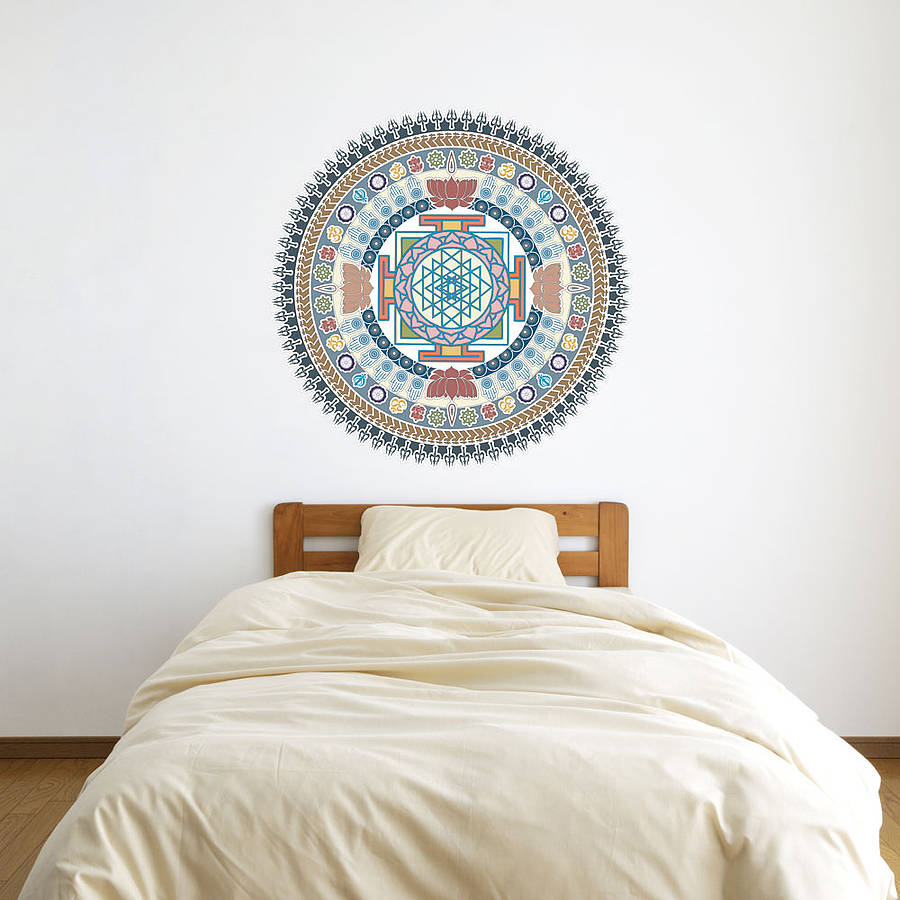 indian spiritual mandala wall art sticker by vinyl