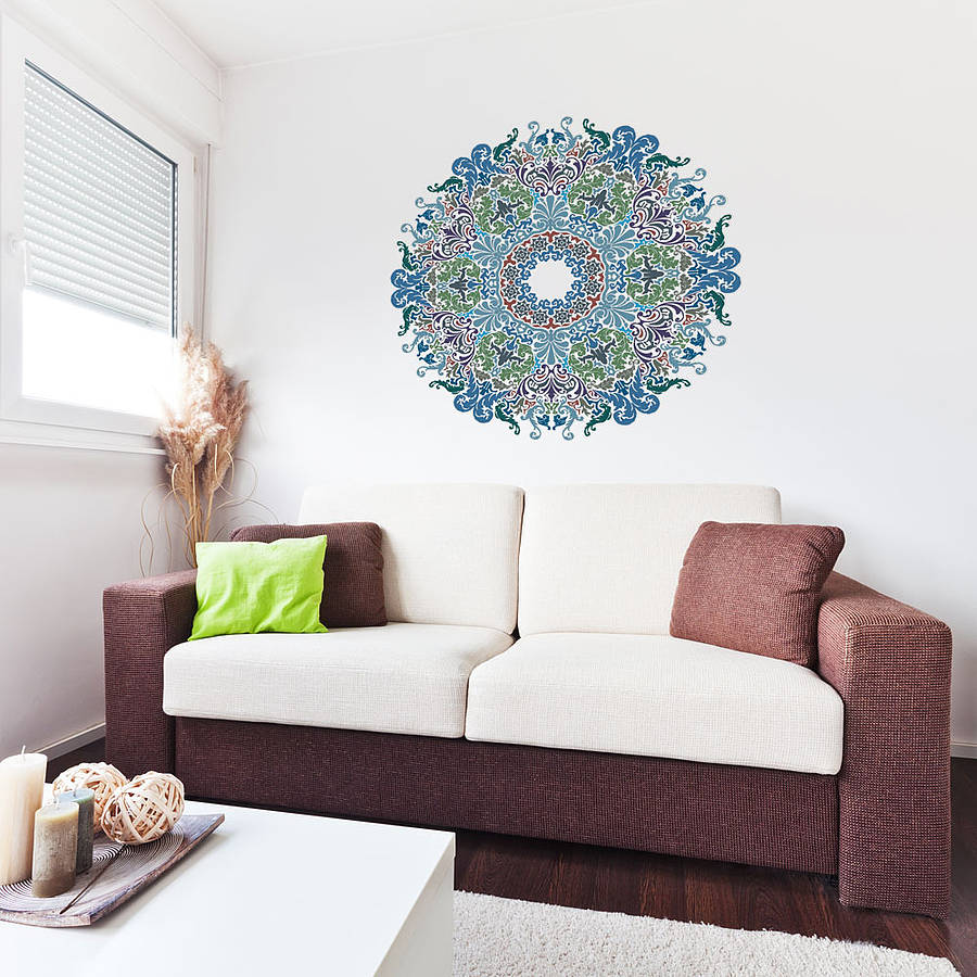 floral victorian mandala wall art sticker by vinyl
