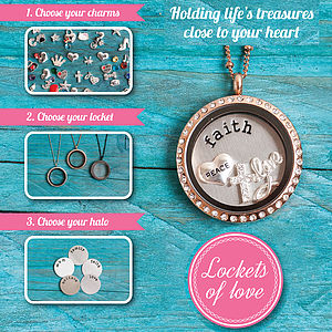 Lockets Of Love Charm Locket Necklace - charm jewellery