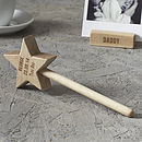 Personalised Baby Keepsake Star Wand