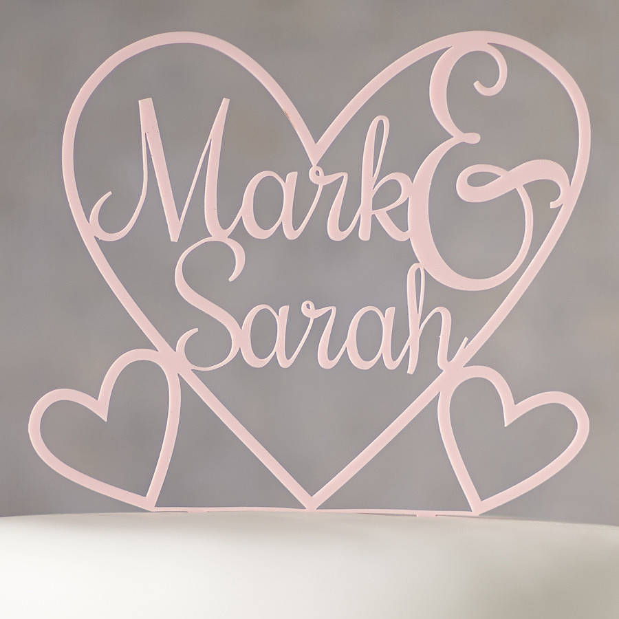 Cake Toppers Uk Personalised : personalised heart cake topper by sophia victoria joy ...