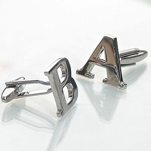 Personalised Initial Letter Cufflinks - men's sale