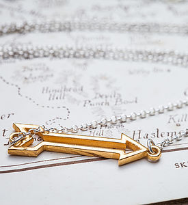 Gold And Silver Arrow Necklace