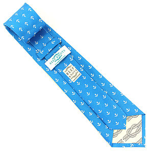 Mens Anchor Handmade Silk Tie