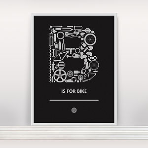 'B Is For Bike' Screen Print Ltd Edition