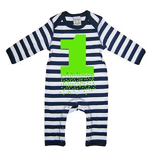 Number One Baby Playsuit With Optional Giftset - baby care