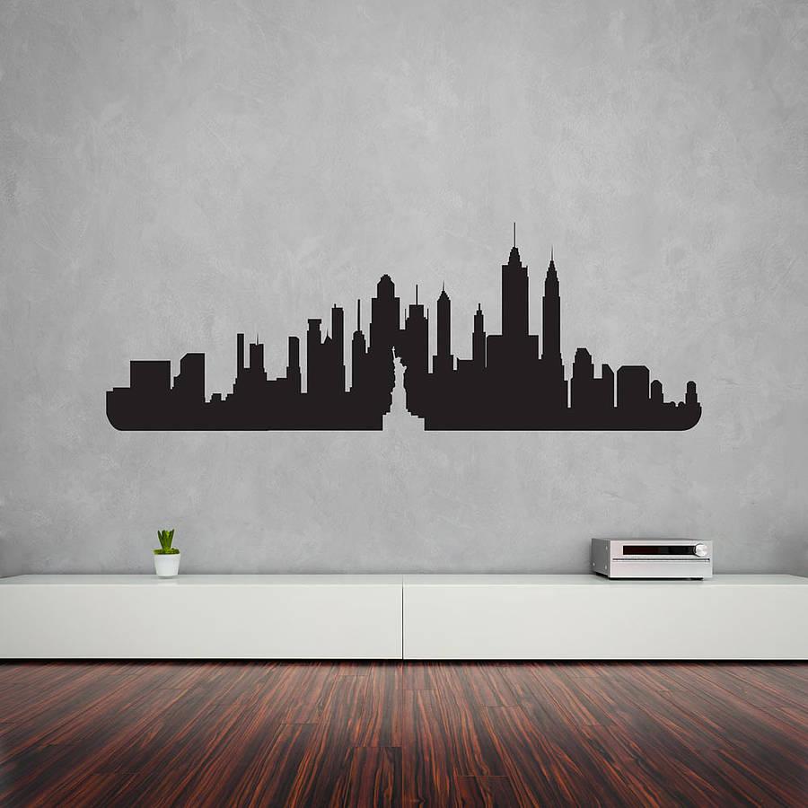 New york city skyline wall art decal by vinyl revolution A wall painting
