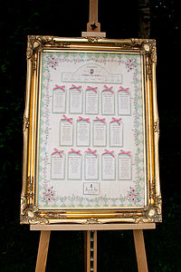 Alice In Wonderland Table Seating Plan - wedding stationery