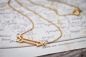 Gold Arrow Necklace - valentines jewellery edit