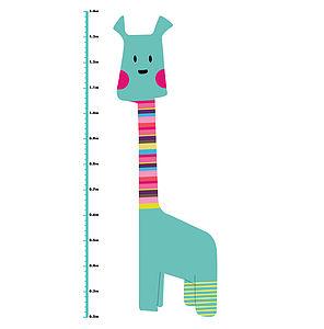 Giraffe Height Chart Colour Wall Sticker
