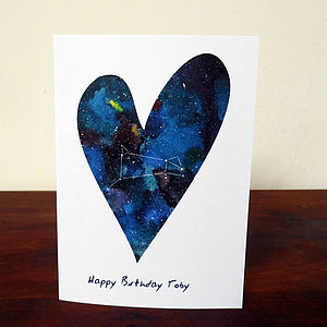 Personalised Galaxy Constellation Card
