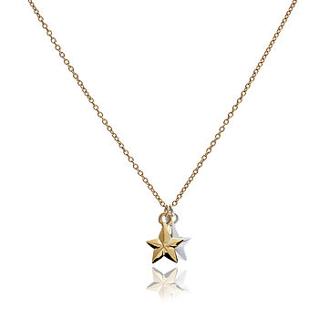 Two Lucky Stars Necklace