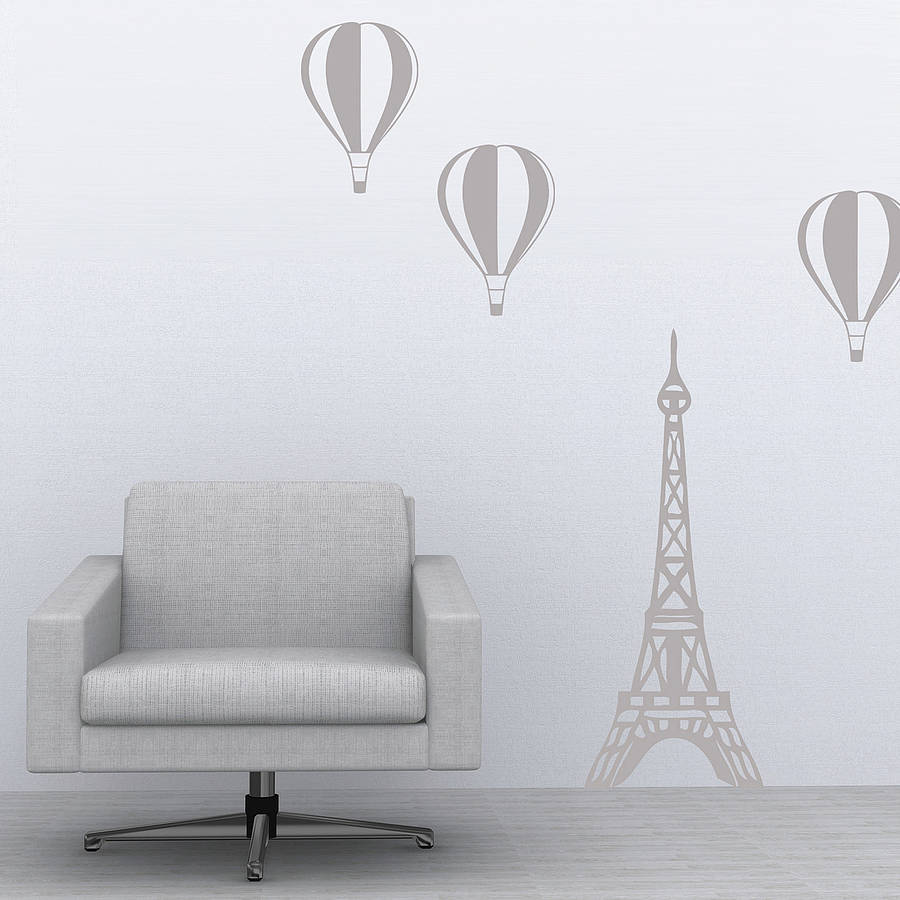 Paris Balloon Wall Stickers