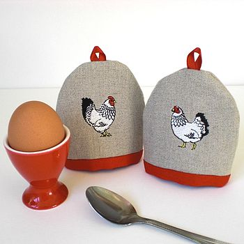 Mr And Mrs Chicken Egg Cosies