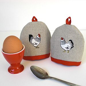 Mr And Mrs Chicken Egg Cosies - egg cups & cosies