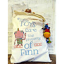 Personalised Really Big Toy Sack - Robot design