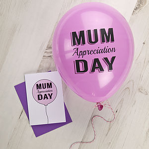 Mum Appreciation Day Balloon And Card Set - view all sale items