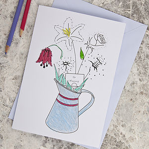 For Mum Dot To Dot Card - seasonal cards