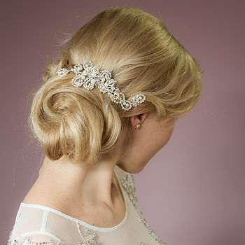Beatrice Crystal And Pearl Hair Comb