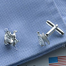 Sterling Silver Eagle Cufflinks