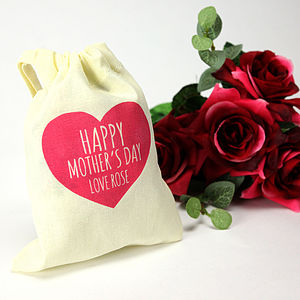 Personalised Mother's Day Treat Bag - ribbon & wrap