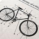 'Anatomy Of A Bicycle' Organic Tea Towel