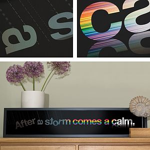 Motivational Quote Print 'After A Storm Comes A Calm' - typography