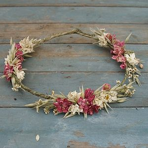 Country Dried Flower Hair Crown