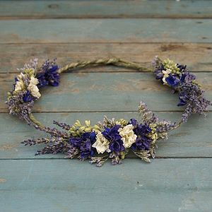 Provence Dried Flower Hair Crown - wedding fashion