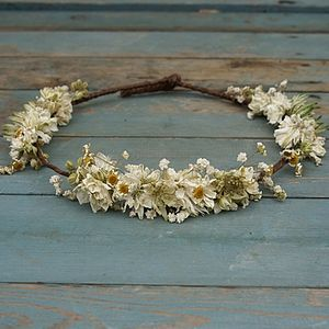 Wild Meadow Dried Flower Hair Crown