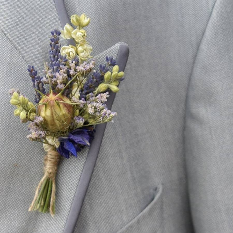 Provence Buttonhole Set Of Four By The Artisan Dried
