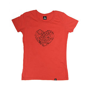 'Bike Love' Organic T Shirt