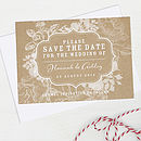 Floral Wedding Save The Date Card Pack