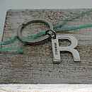 Sterling Silver Initial Alphabet Key Ring