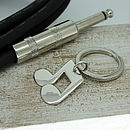 Silver Twin Musical Notes Keyring