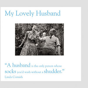 Husband Greeting Card - wedding, engagement & anniversary cards