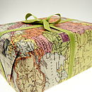 vintage map gift wrap