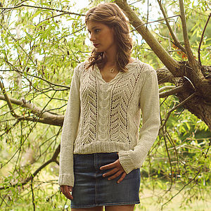 Tara Knitted Cotton Cream Sweater