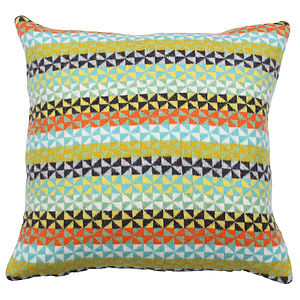 Fleur Knitted Lambswool Cushion - living room