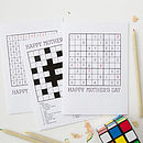 Personalised 'Mother's Day' Puzzle Cards