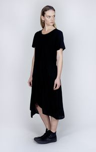 Drop Circle Hem Dress - contemporary women's fashion