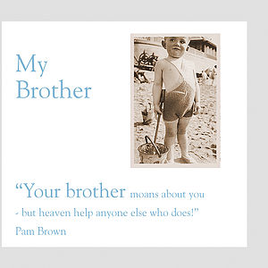 Brother Greeting Card - birthday cards