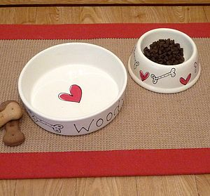 Personalised Ceramic Dog Bowl - food, feeding & treats